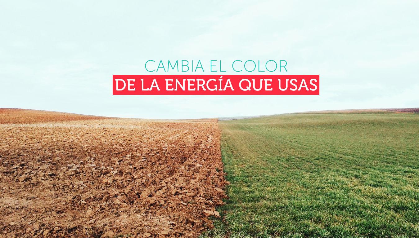 Cambia el color de la energía que usas