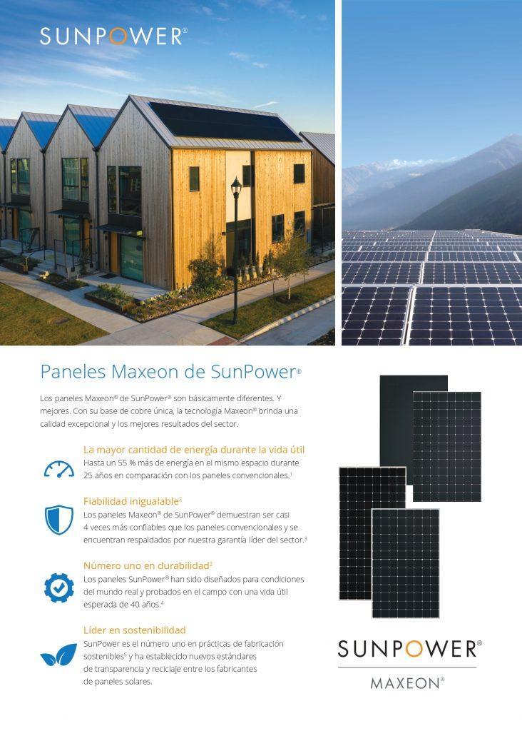 Características Tecnología SunPower MAXEON