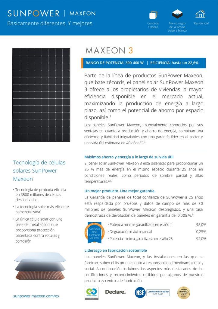 MAXEON 3 – 390, 395, 400 W