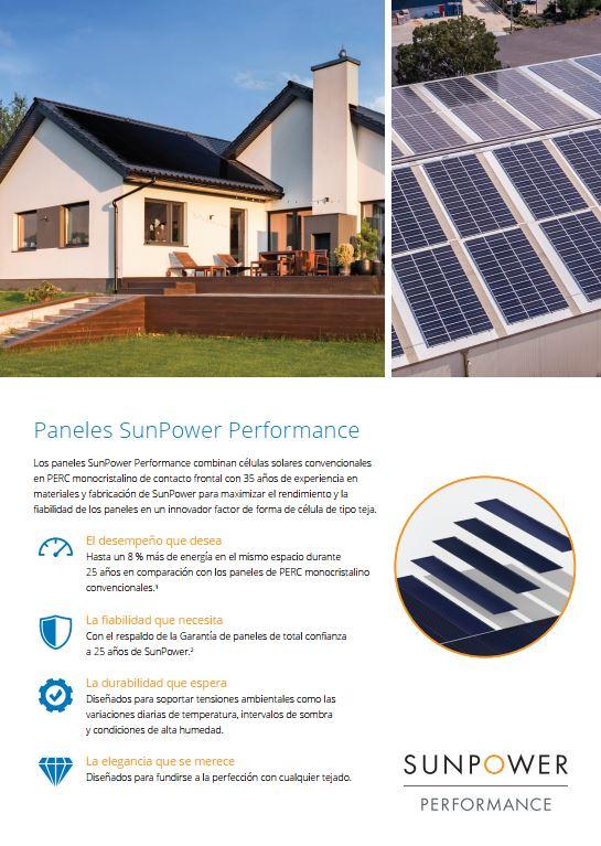 Características Tecnología SunPower PERFORMANCE