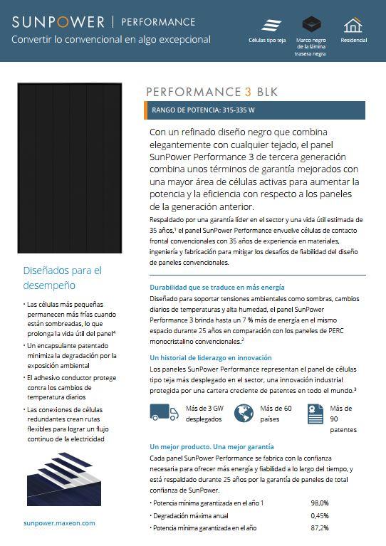PERFORMANCE P3 BLK – 315, 320, 325, 330, 335 W