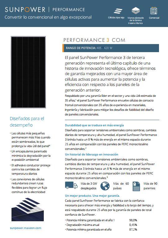 PERFORMANCE 3 COM 405 – 420 W